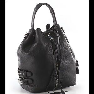 Gorgeous Rebecca Minkoff black leather handbag.
